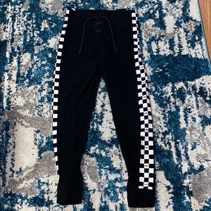 Vs PINK checker lace up leggings
